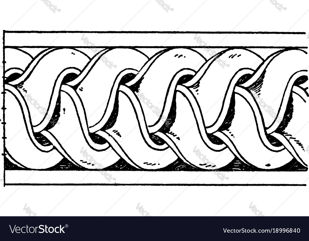 Antique enrichment torus moulding is a bundle of vector image