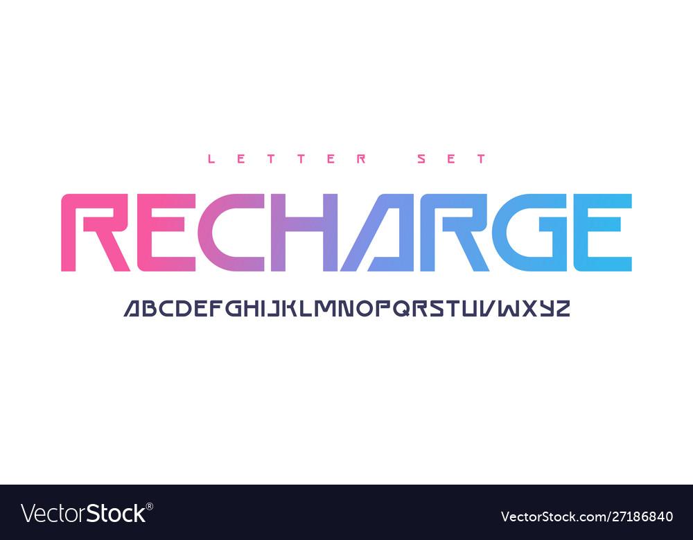 Contemporary uppercase letter set alphabet