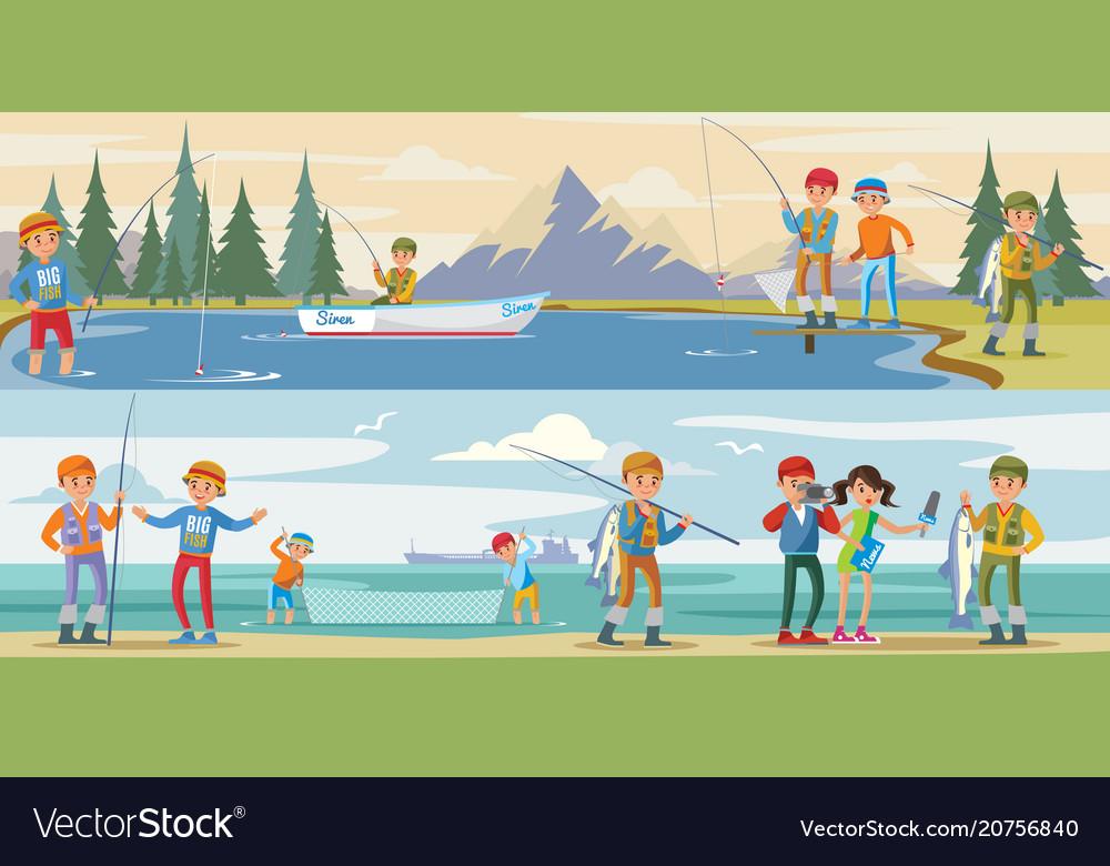 Outdoor activity horizontal banners