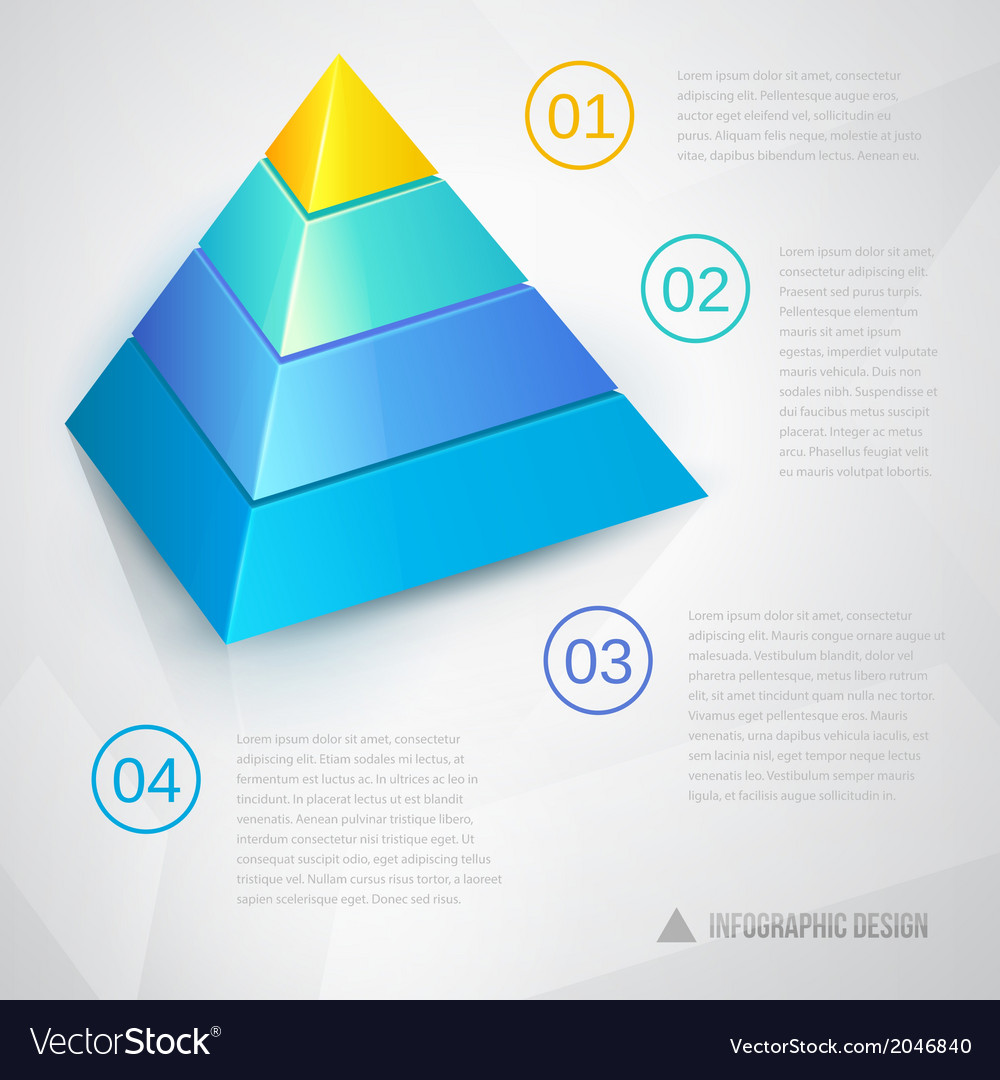 presentation template with pyramid royalty free vector image