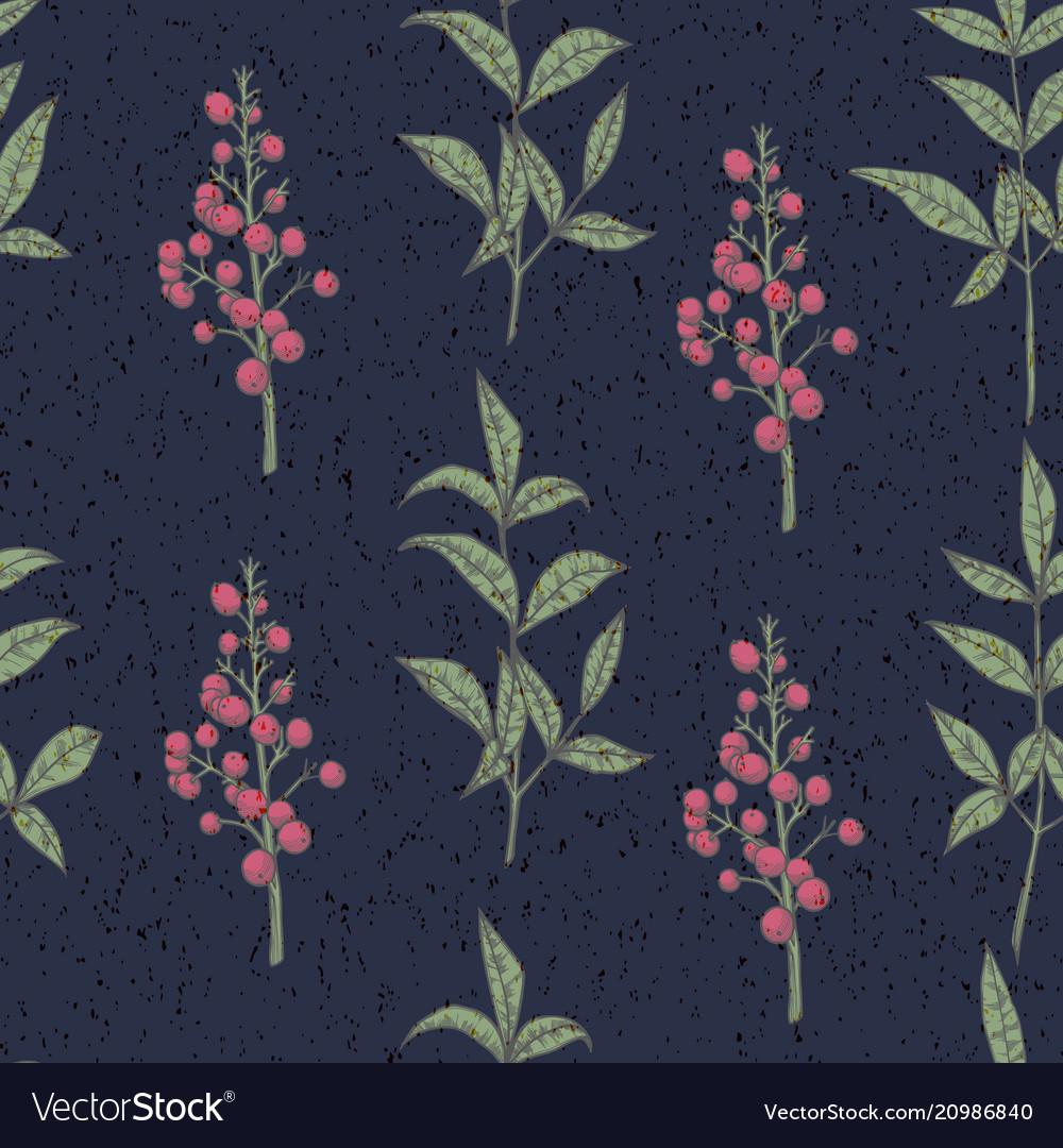 Seamless pattern with berries vintage design