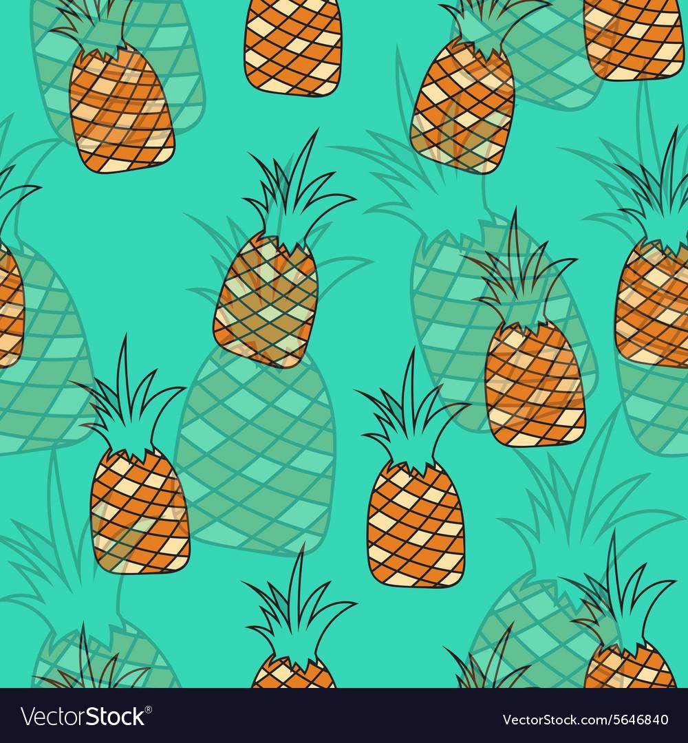 Stylish seamless pattern of pineapples on