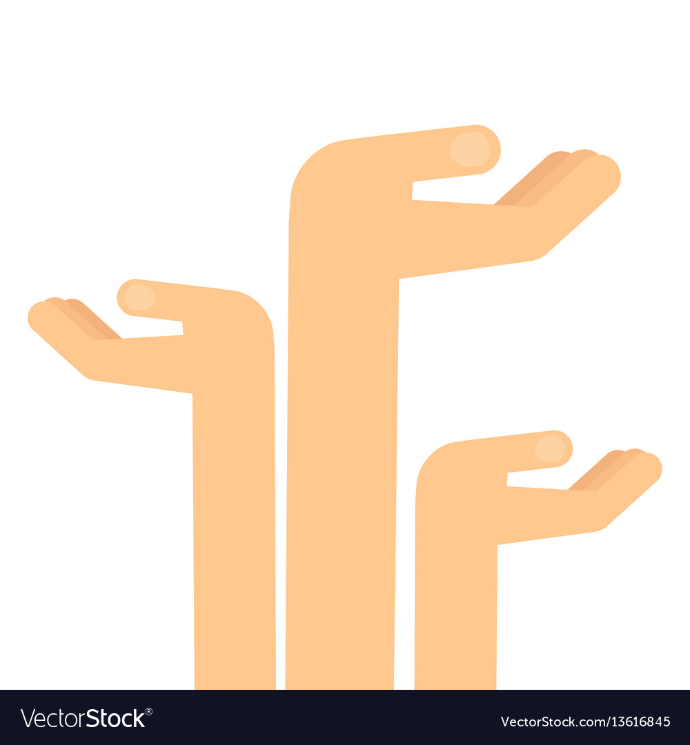 Arms extended upward vector image