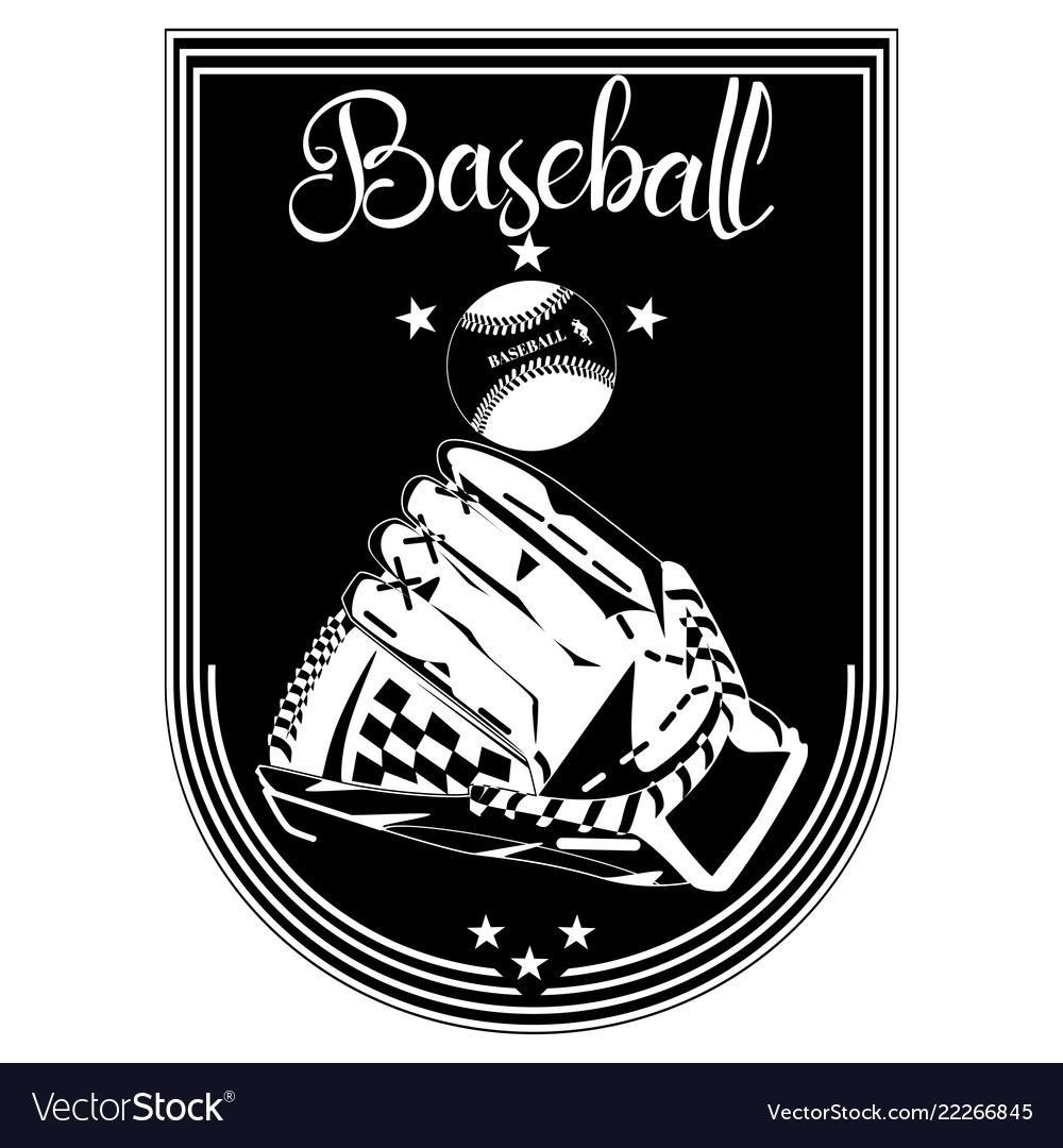 Baseball sport emblem badge template