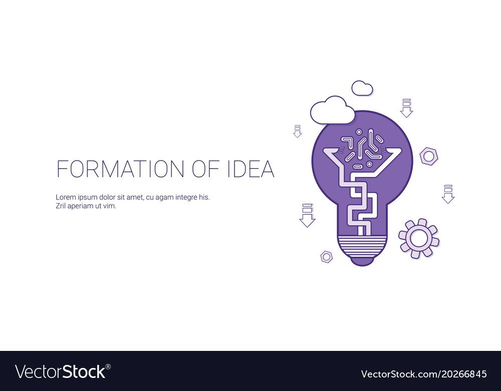 Formation of idea creative process concept vector image