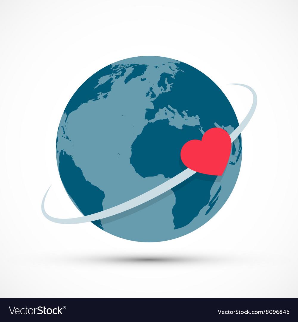 Heart revolves around the earth
