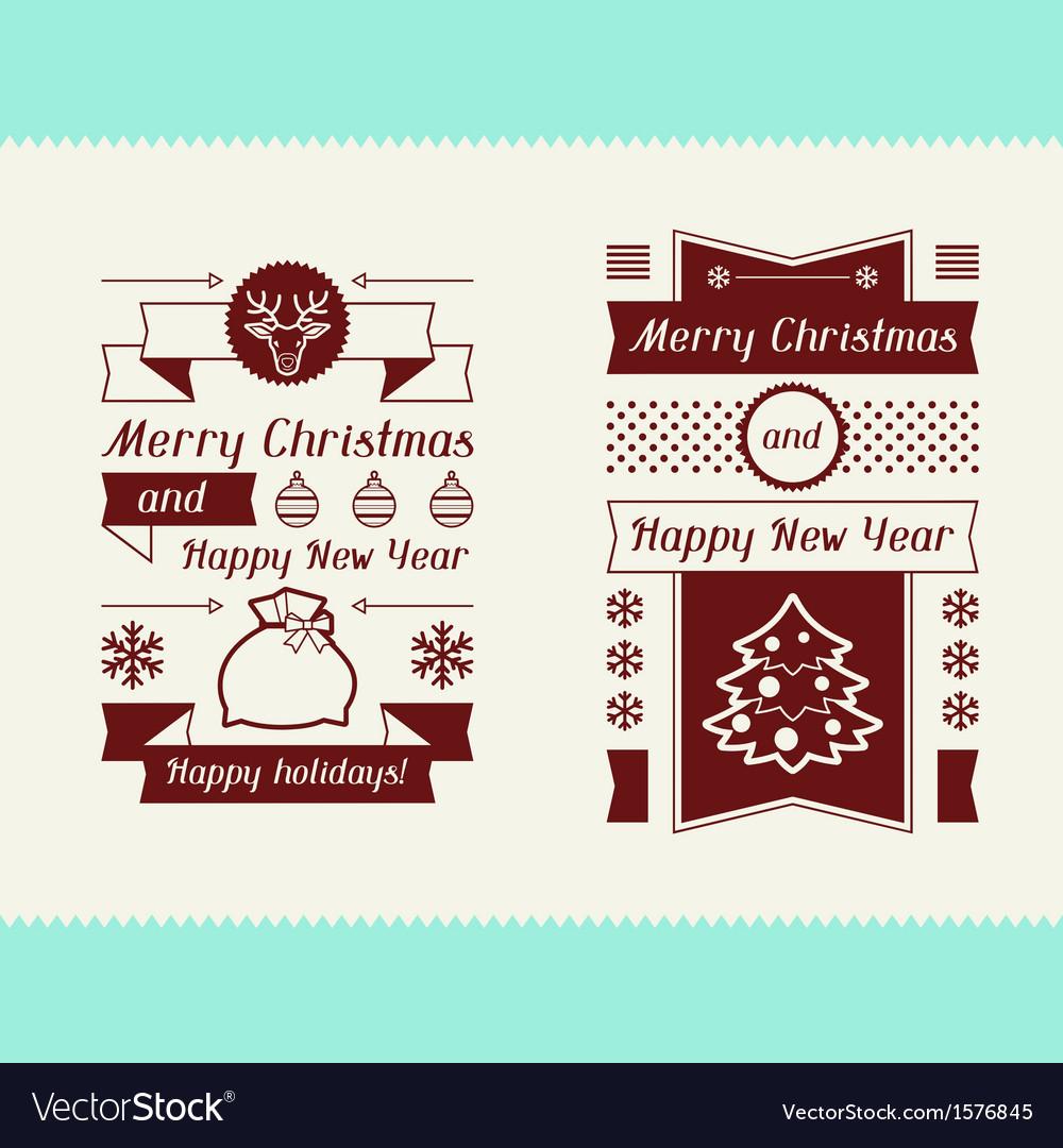 Merry christmas invitation typographic design
