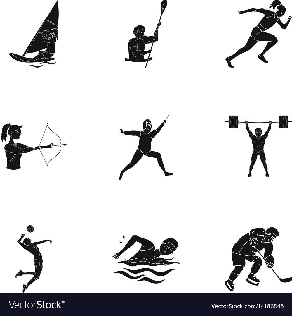 Olympic sports winter and summer sports a set of
