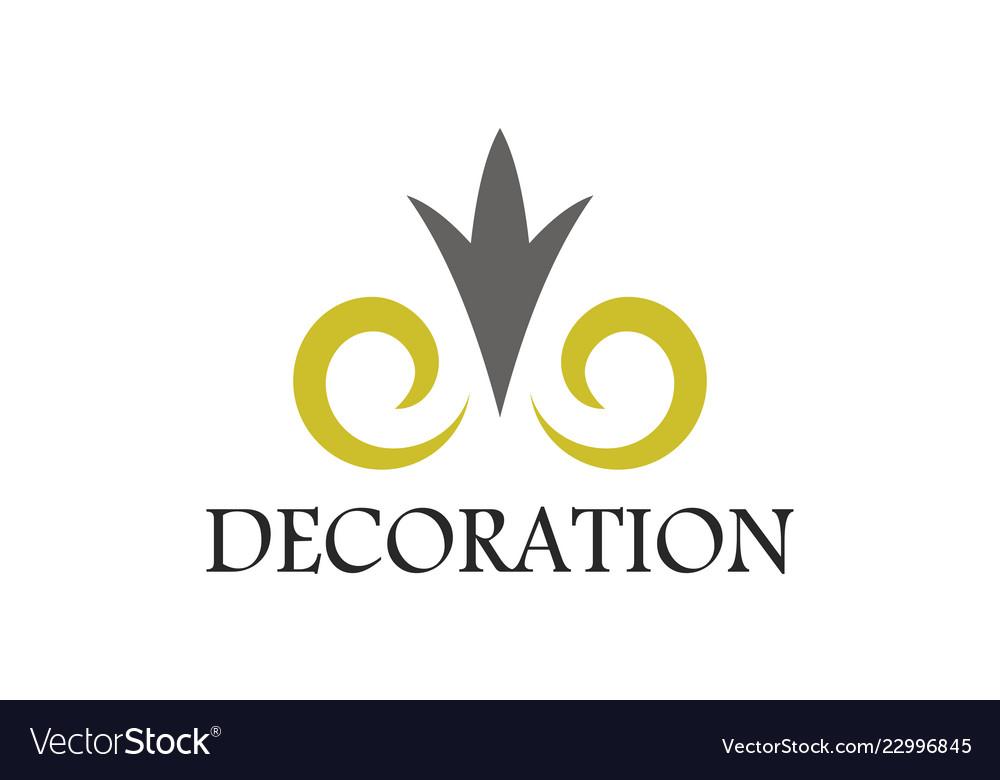 Swirl decoration logo
