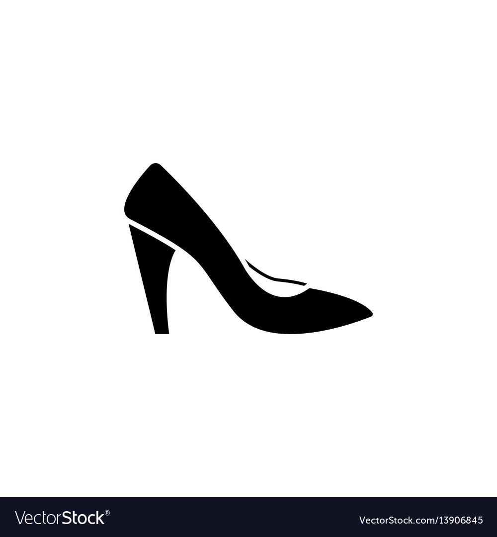 Woman shoes icon Royalty Free Vector Image - VectorStock 77f4ec534fad