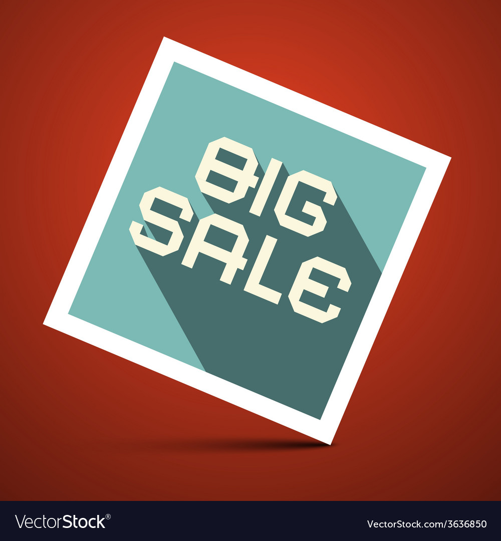 Big Sale Title on Red Background