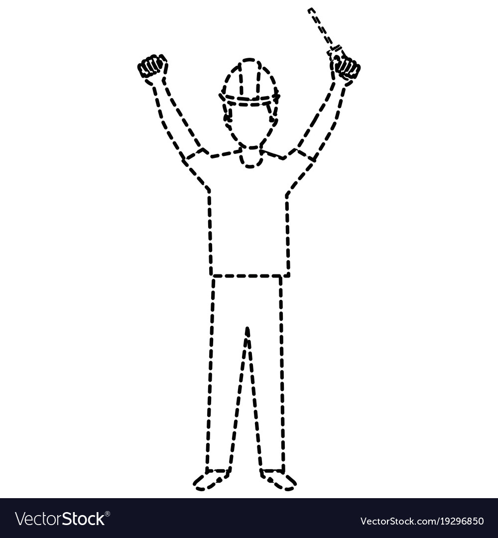 Construction worker with screwdriver avatar