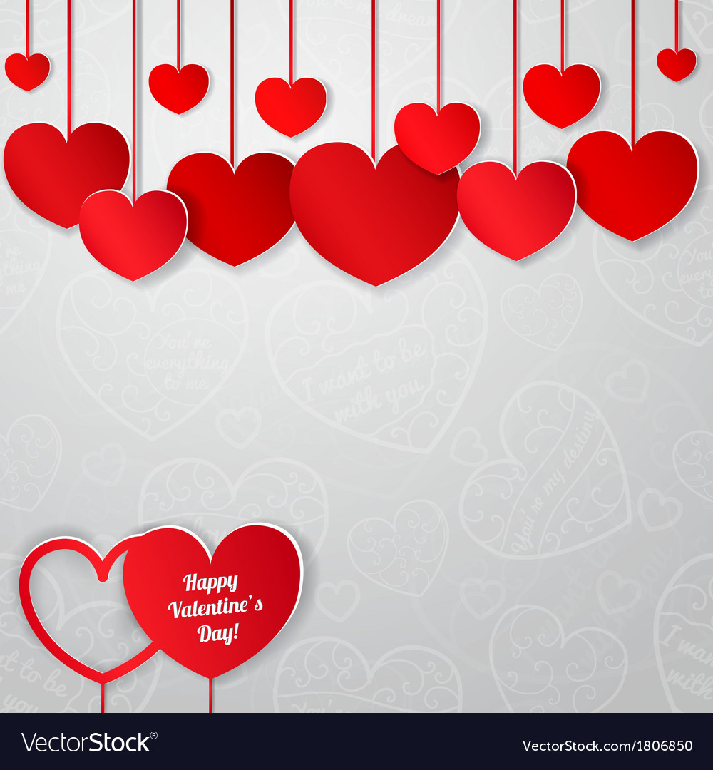 Greeting card for valentines day royalty free vector image greeting card for valentines day vector image m4hsunfo