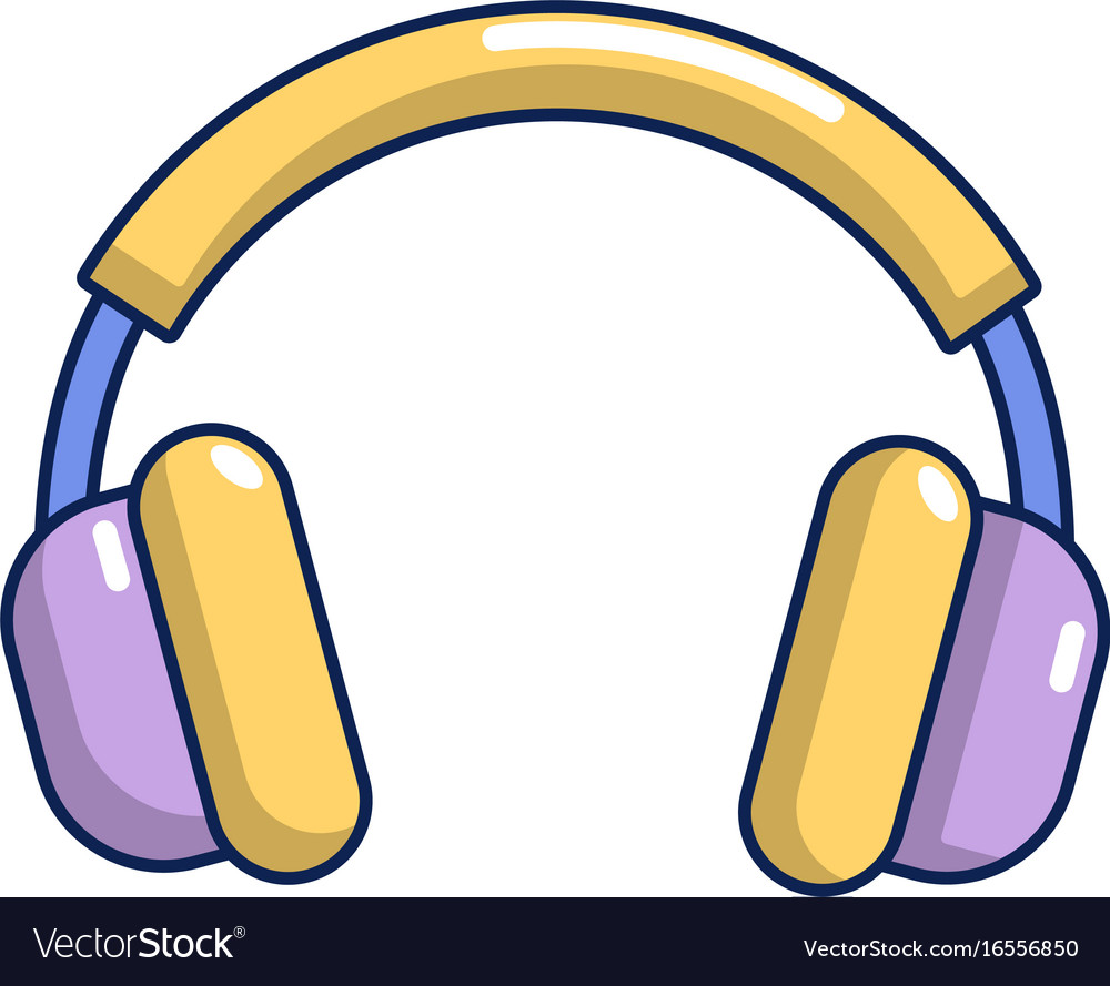 Headphones icon cartoon style