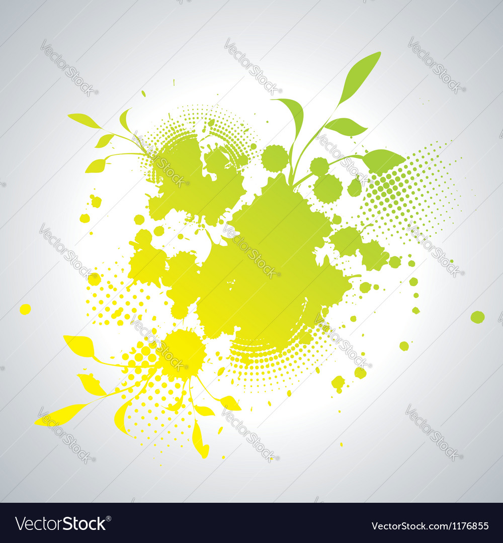 Abstract artistic Background with floral element vector image