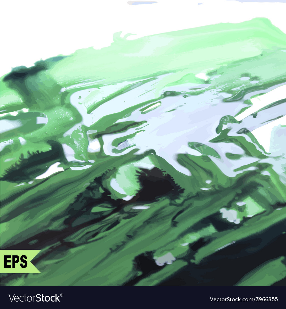 Abstract paint Painting with green water