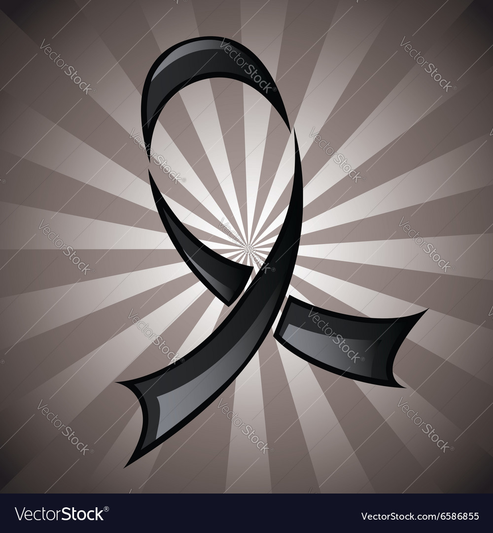 Black Ribbon Background vector image