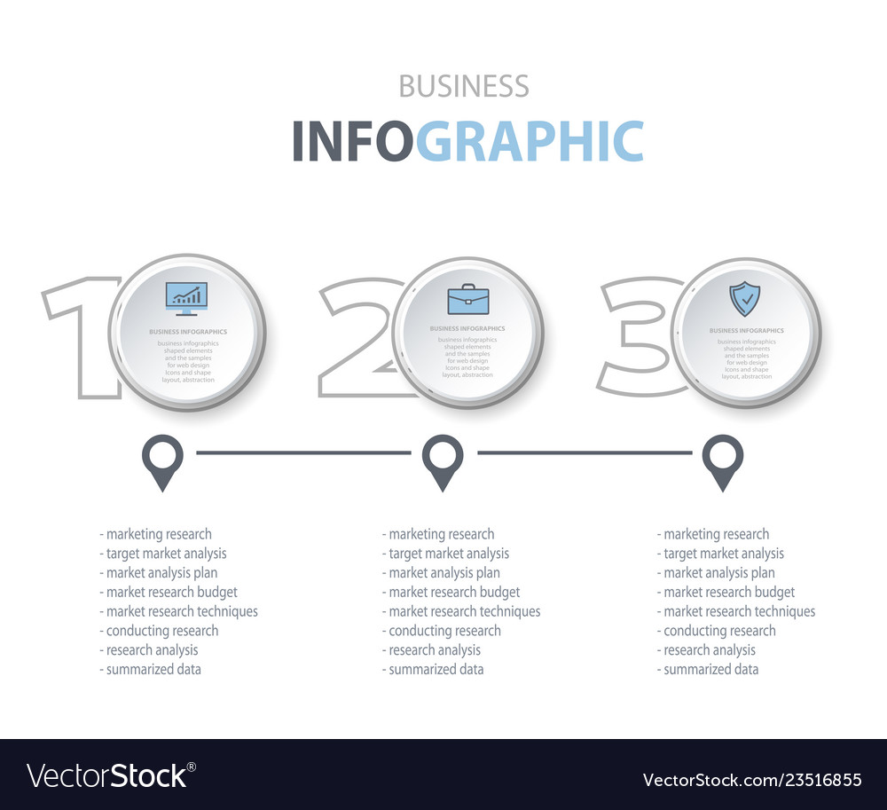 Business infographics marketing options icons