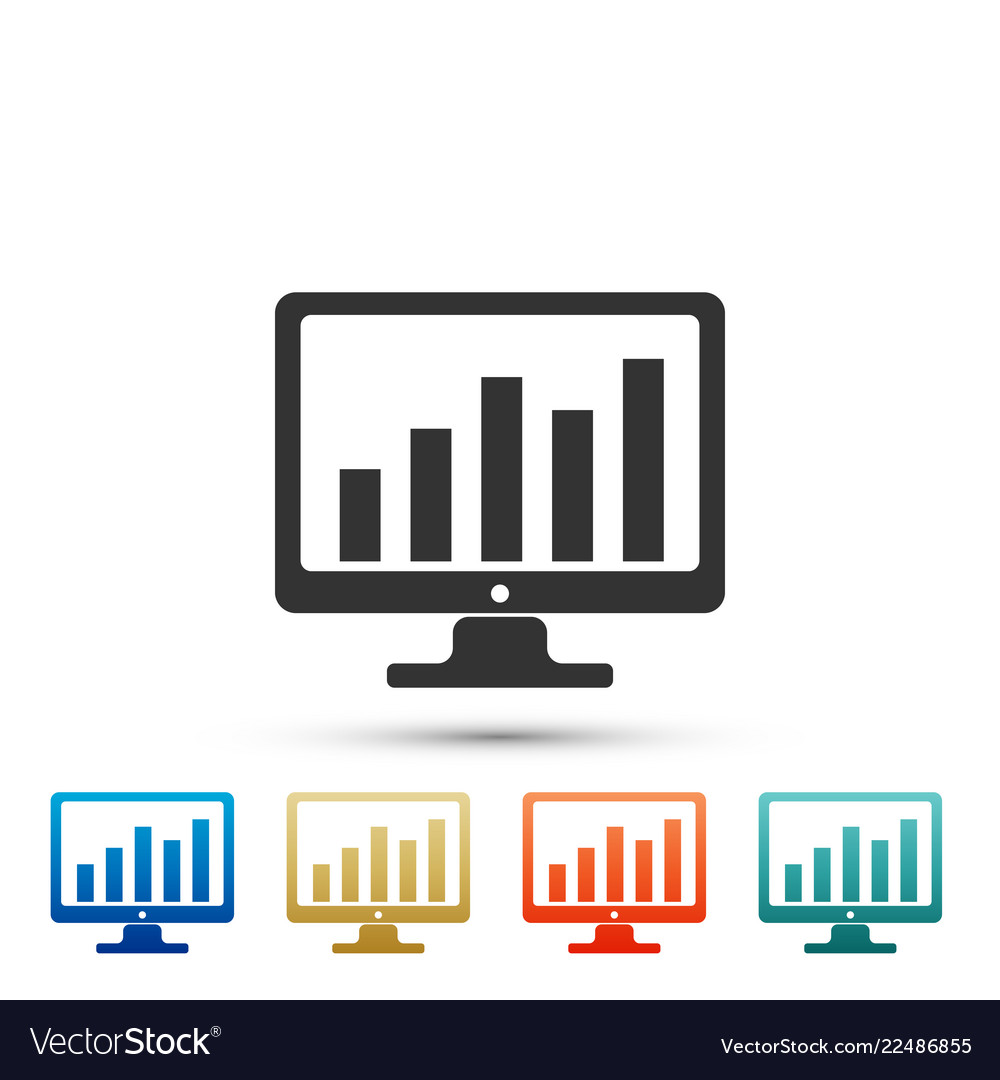 Computer screen with financial charts and graphs