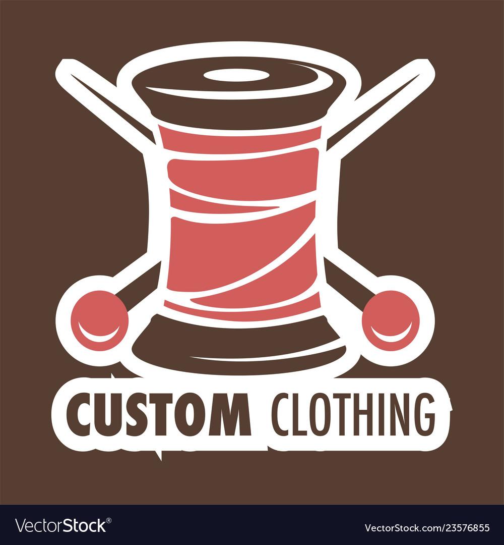 5e40065b401e4 Custom clothing shop icon threads coil and needles vector image