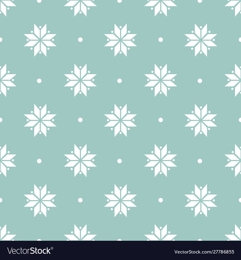 Winter minimalist geometric seamless pattern with