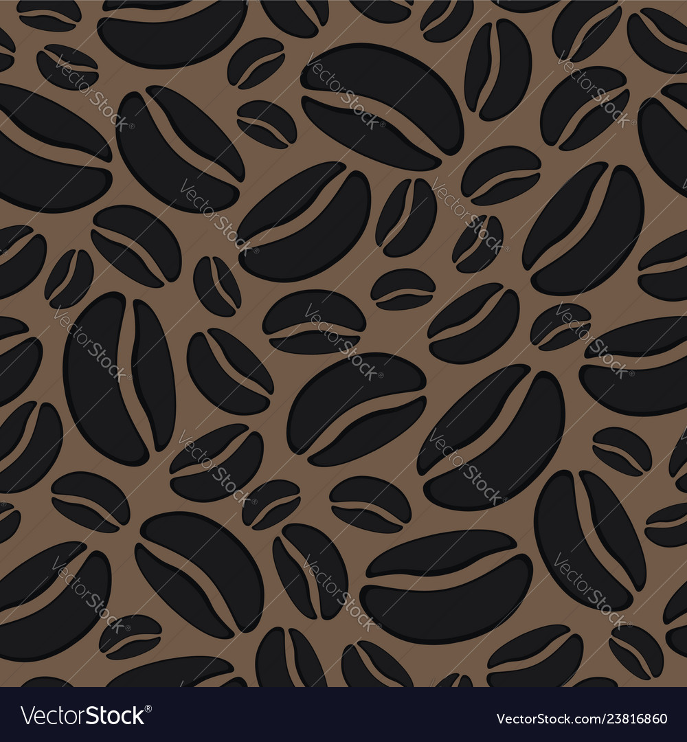 Abstract background with seamless coffee bean