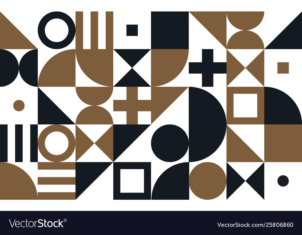 Bauhaus art pattern background