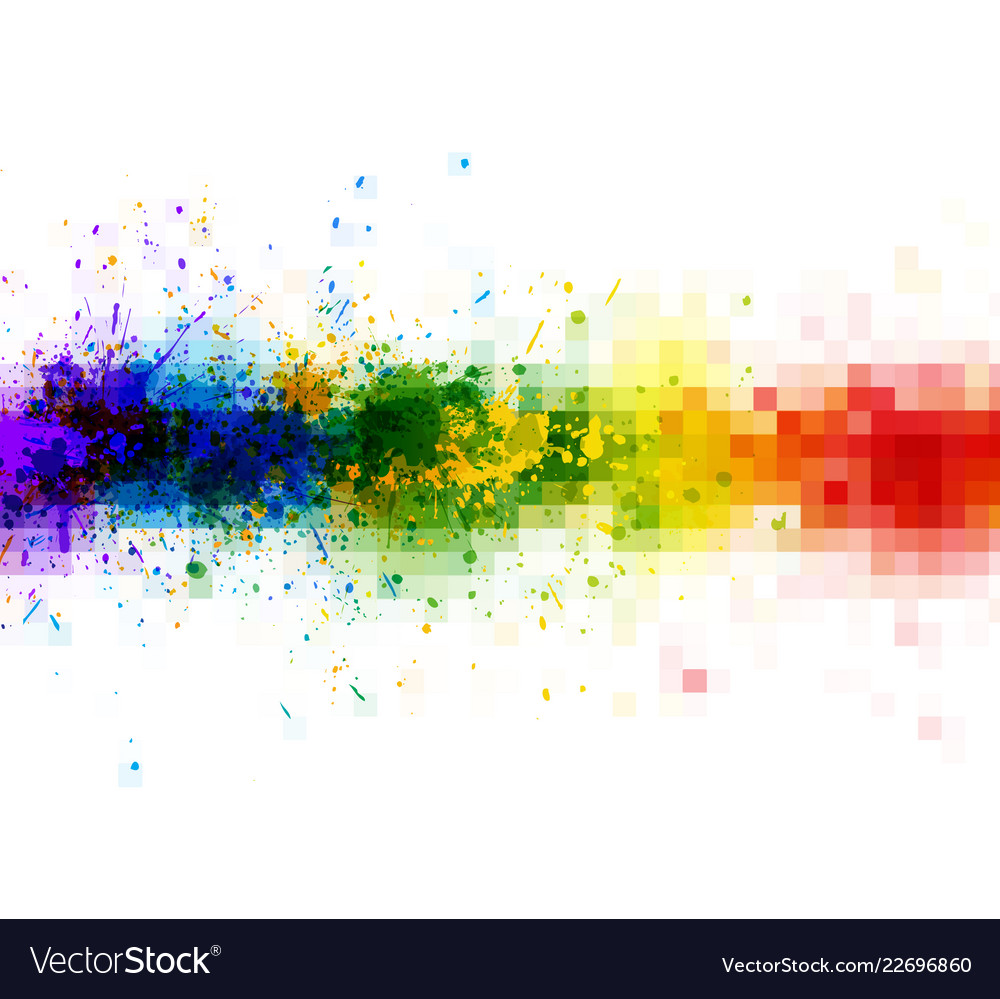 Bright watercolor stains paint splashes background