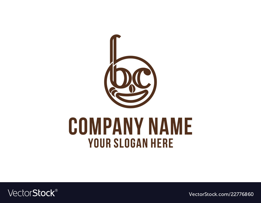 Coffee smile logo designs inspiration isolated on