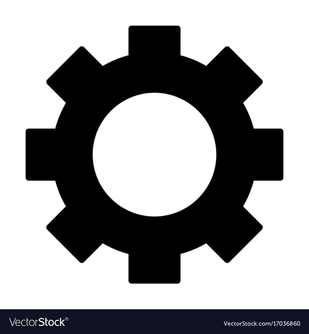gear wheel silhouette icon cog symbol royalty free vector rh vectorstock com gear vector art free gear vector download