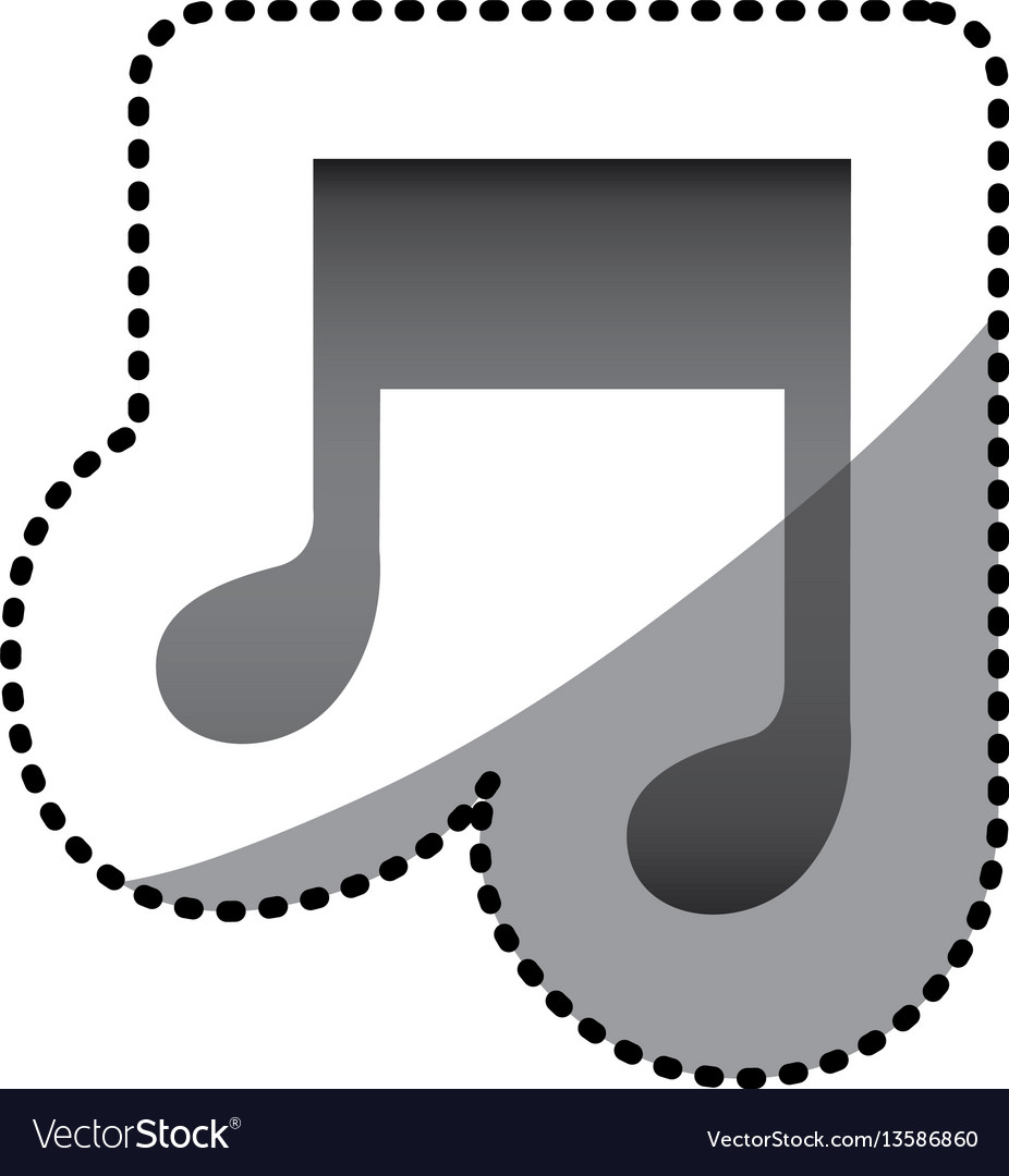 Grayscale music sign icon