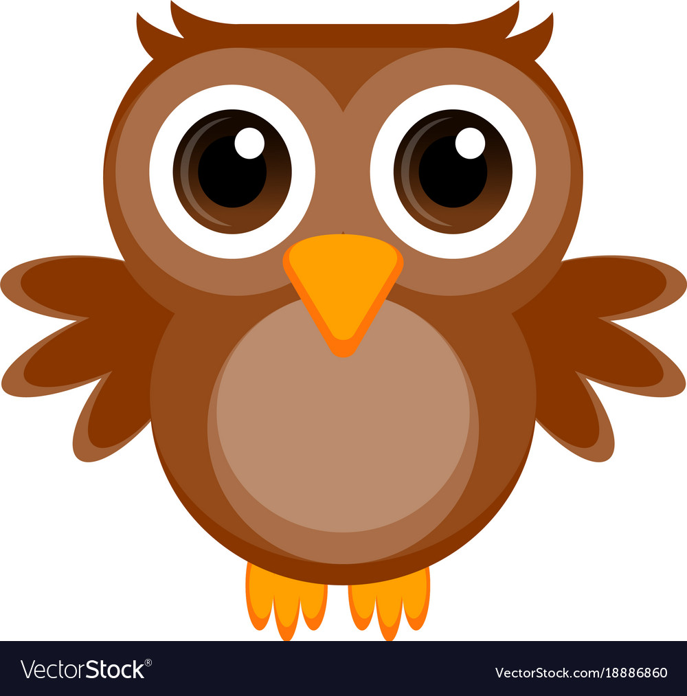 isolated cute owl royalty free vector image vectorstock rh vectorstock com owl vector image owl vector outline