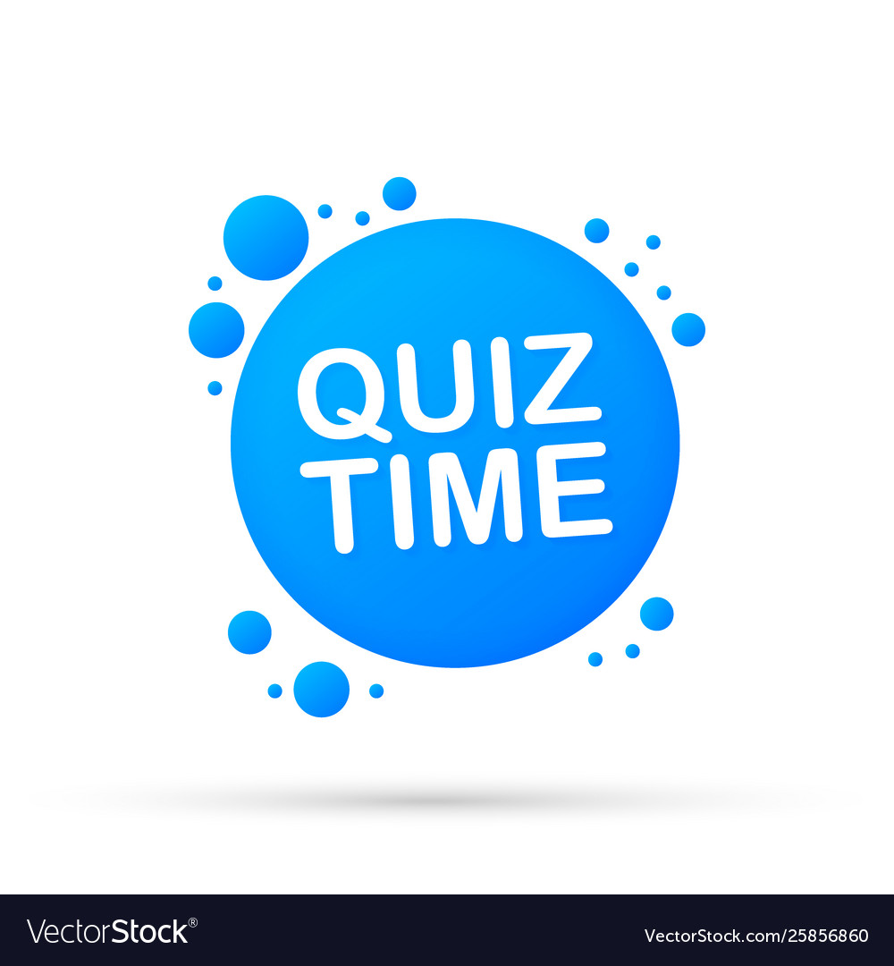 Quiz time banner the concept is question with vector image