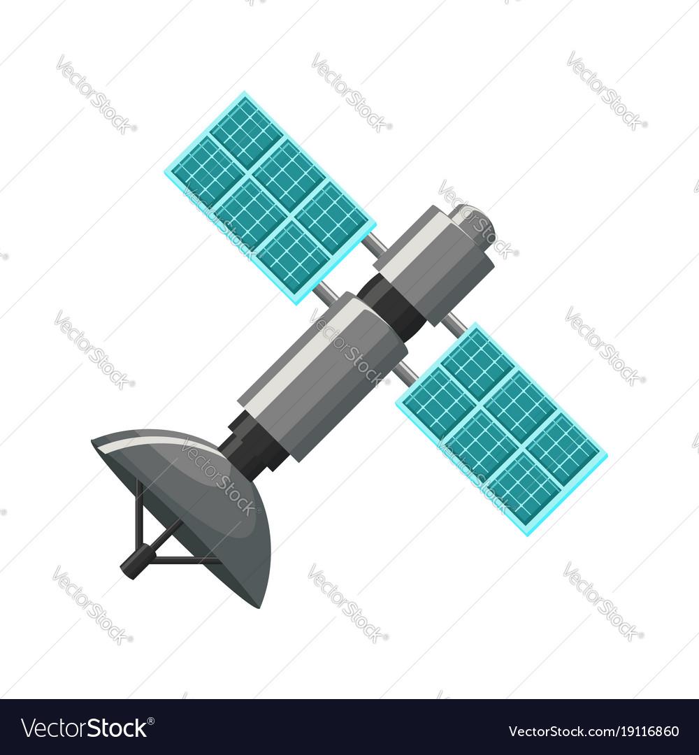 Satellite icon isolated