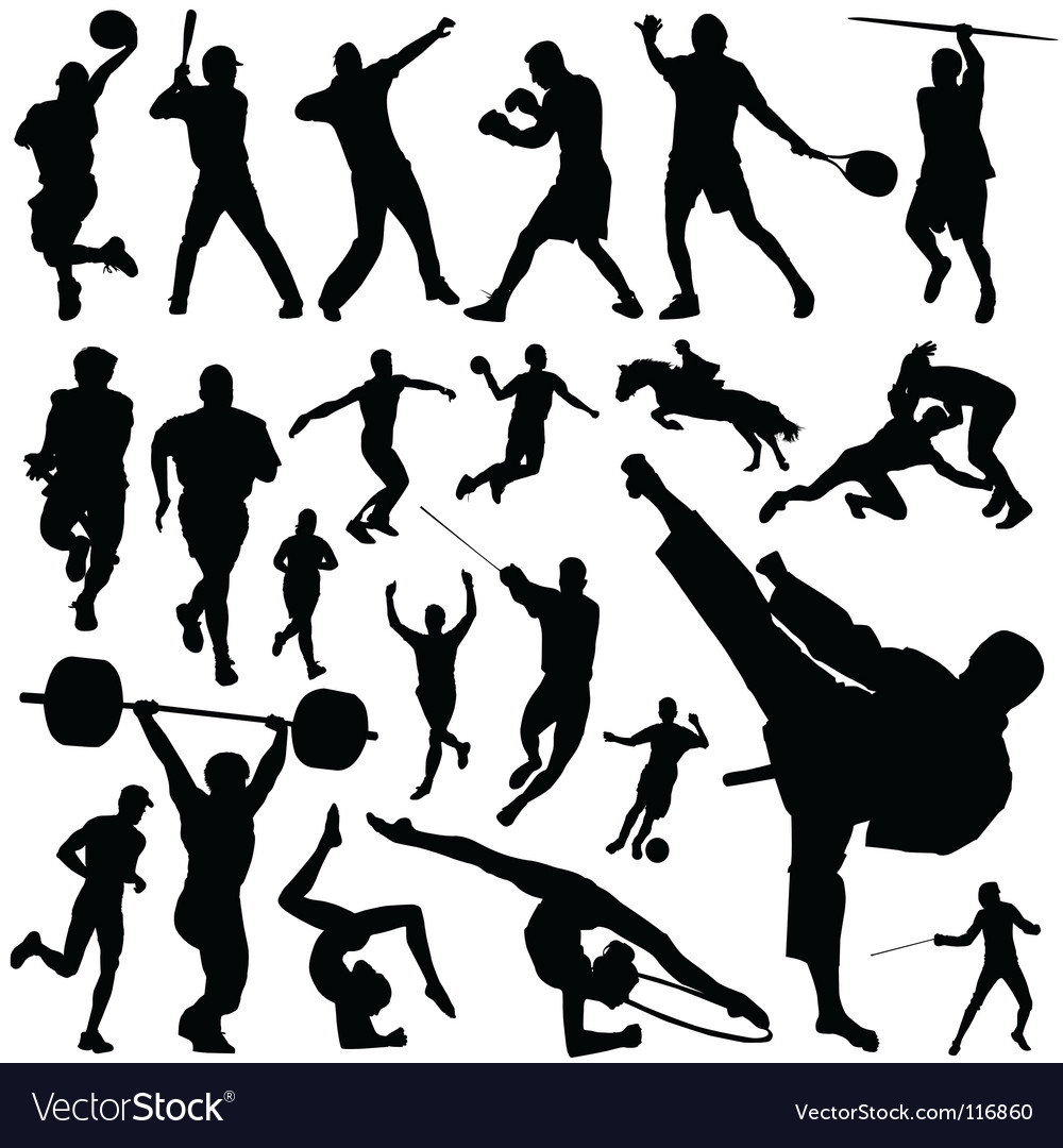 sports royalty free vector image vectorstock rh vectorstock com sports vector images sports vector art templates