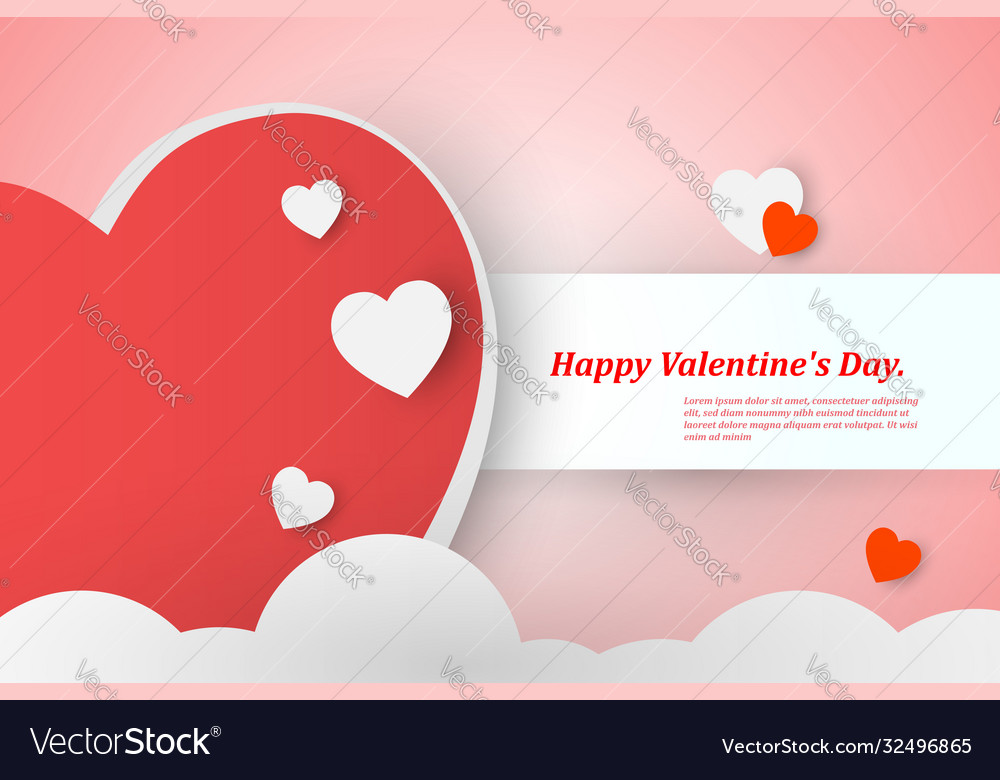 Beautiful valentines day background with red