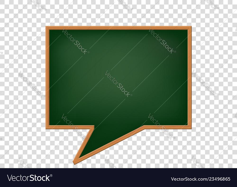 Blank speech bubbles as a school blackboard