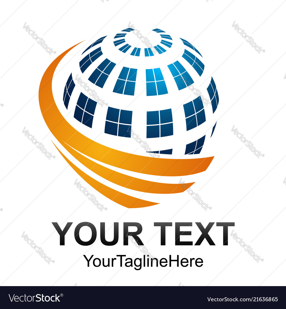 Creative abstract digital sphere technology logo