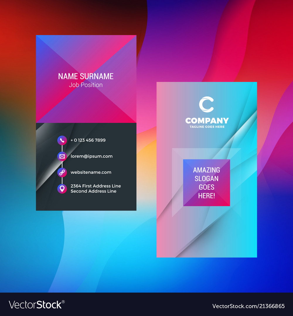 Double sided vertical business card template with vector image cheaphphosting Gallery
