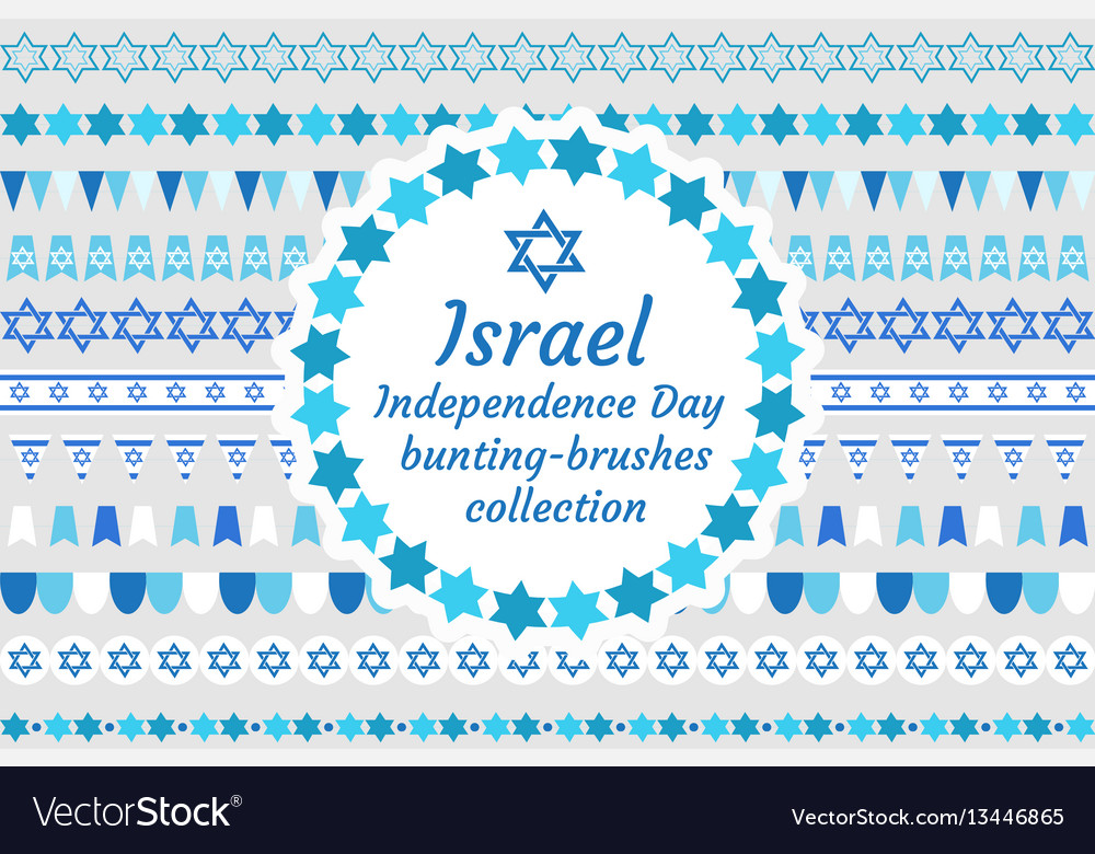 Israel independence day bunting-brushes collection