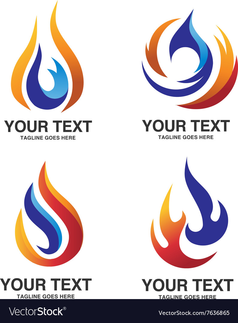 Oil and gas energy concept logo vector image