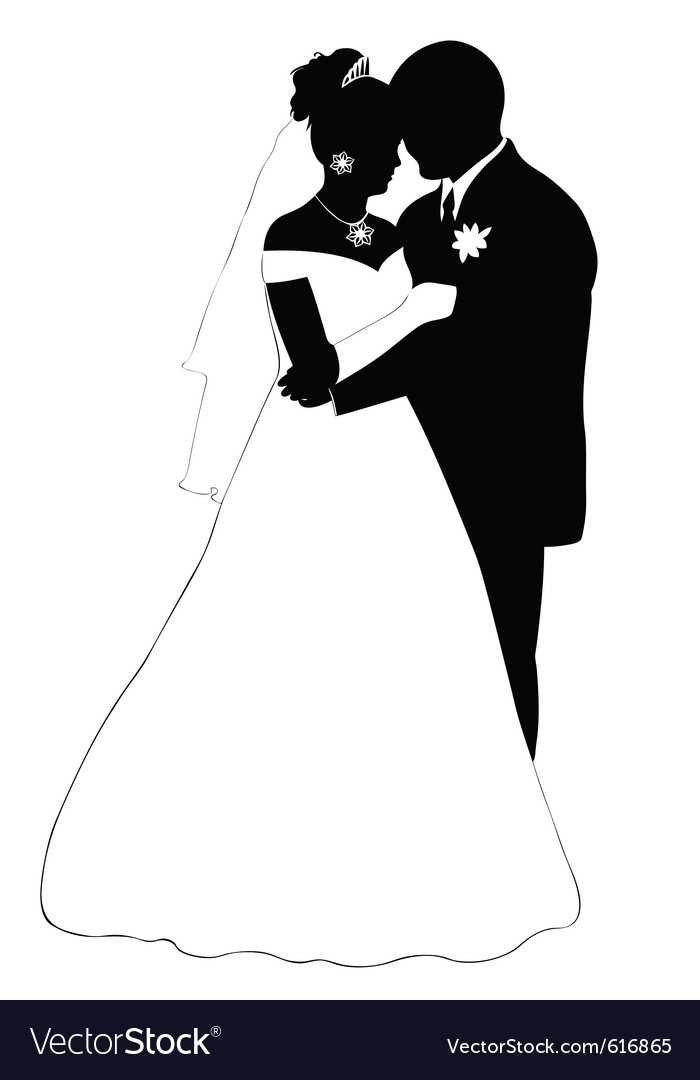 free silhouette wedding clipart victorian wedding clip art