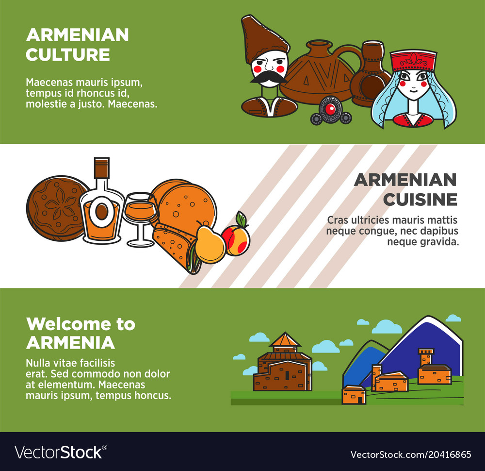 Welcome to armenia promotional banners with