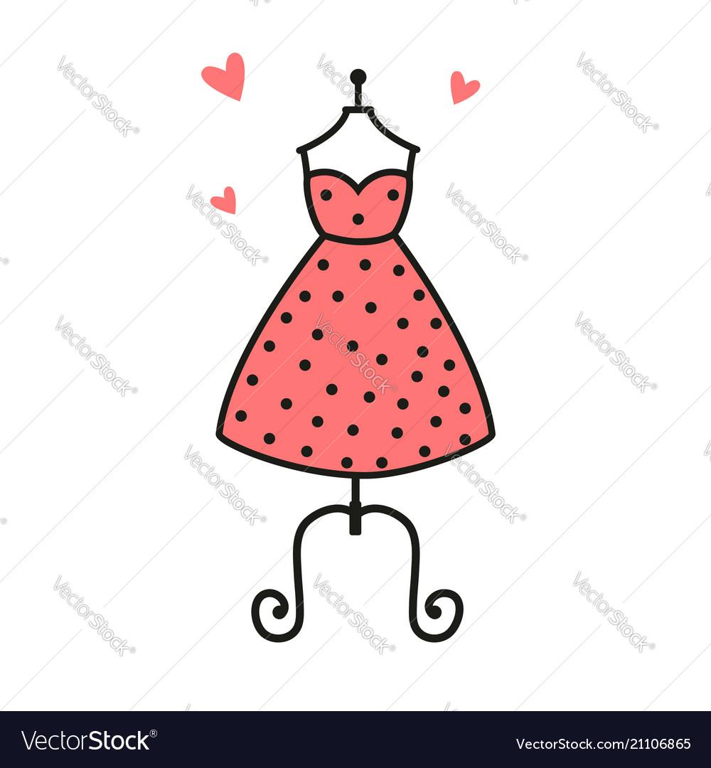 Women fashion logo design template dress emblem