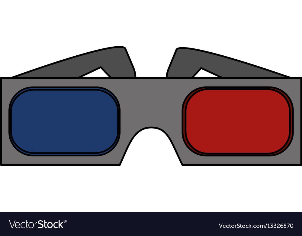 3d glasses icon vector image