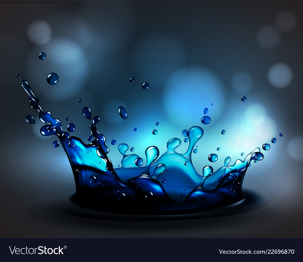 Abstract background with transparent water splash