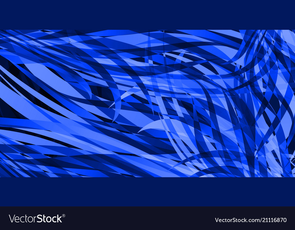 Background of smooth blue lines