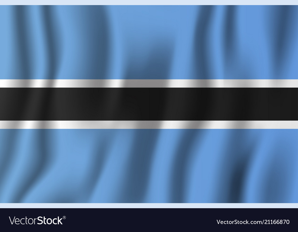 Botswana realistic waving flag national country