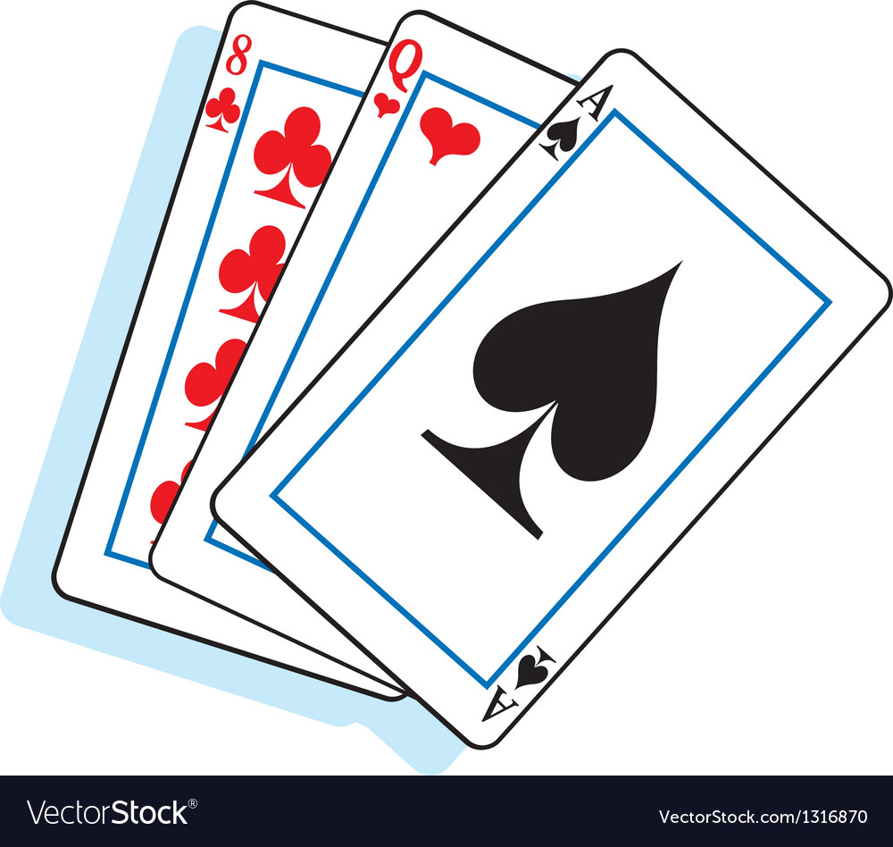 Cartoon Playing Cards vector image