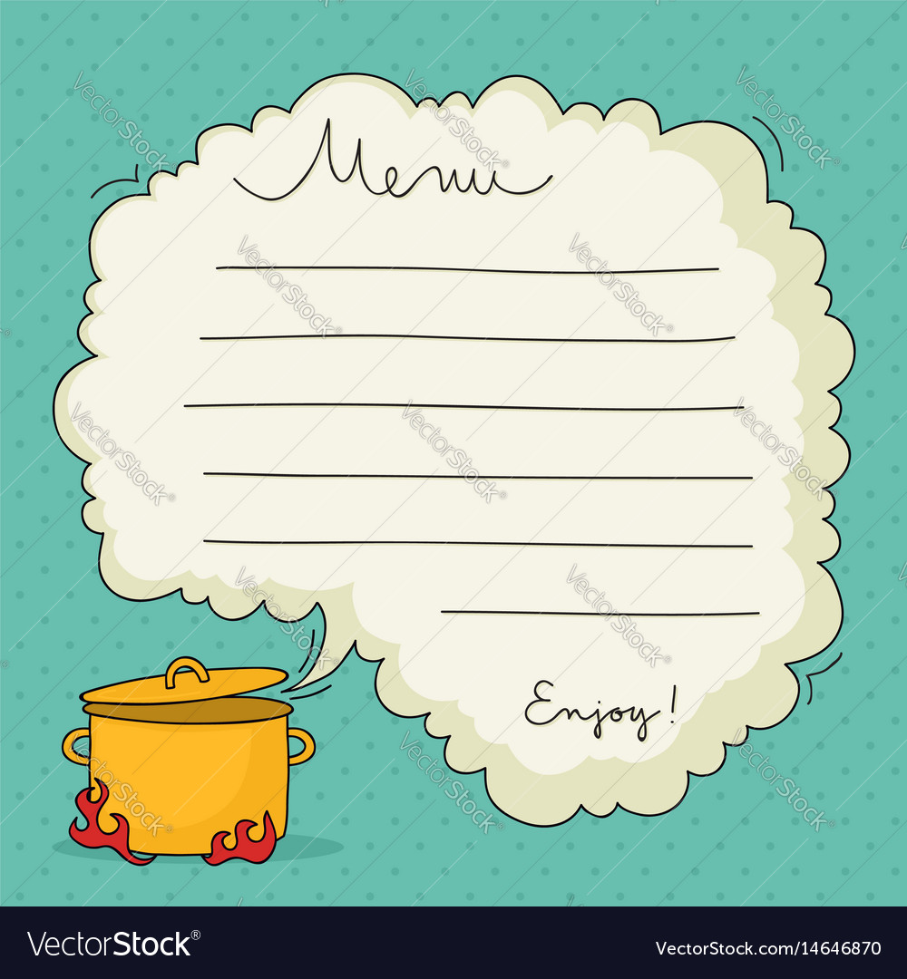 Hand drawn menu template vector image